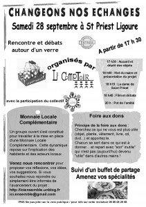 Le 28 septembre à St Priest Ligoure dans Les monnaies complémentaires 28-09-st-priest-211x300